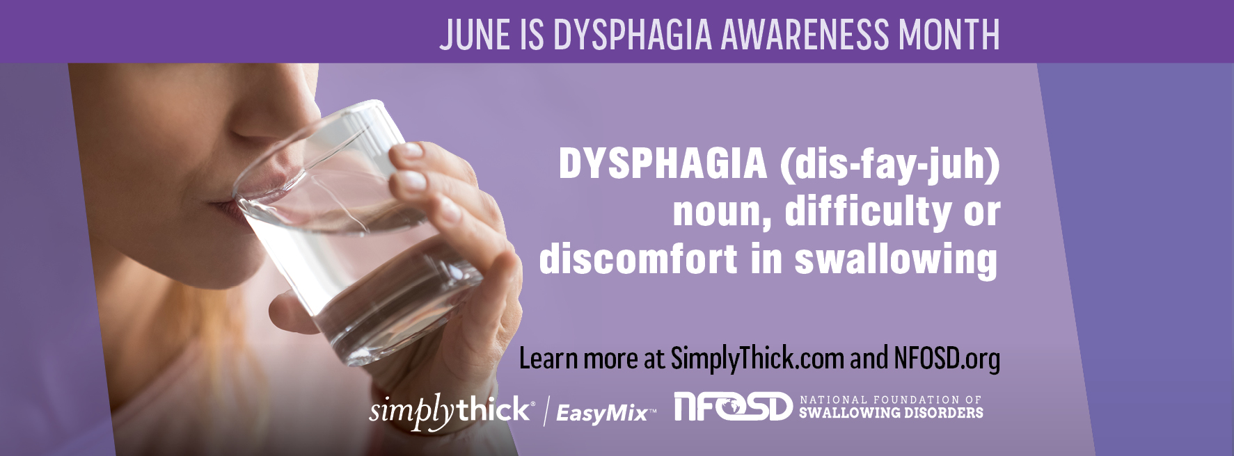 dysphagia awareness month Facebook cover
